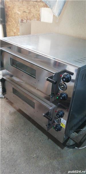 Cuptor pizza electric NOU 4+4x33cm Transport Gratuit - imagine 1