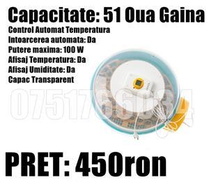 Incubator Clocitoare 2 in 1 Dispozitiv Intoarcere Oua 82 Oua Gaina 148 Oua Prepelita Temperatura - imagine 5