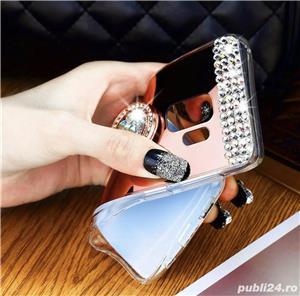Husa tip oglinda cu pietricele + inel pt. Samsung Galaxy S7 Edge, S8, S8+, S8 Plus, S9, S9+, S9 Plus - imagine 4