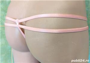 HOT! Chiloti tanga de senzatie! colectie lux BOOHOO(UK) fete/femei culoare roz mar.S(noi-eticheta) - imagine 4