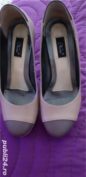Pantofi din piele - imagine 1