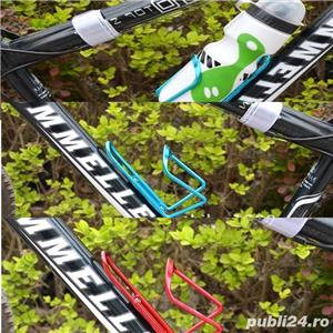 Suport universal din aluminiu pt bidon hidratare apa orice tip de bicicleta diverse culori cursiera - imagine 2