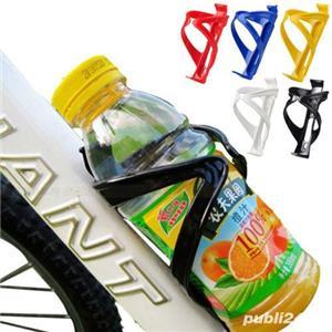 Suport pt bidon hidratare apa orice tip de bicicleta diverse culori high plastic cursiera ultrausor - imagine 1