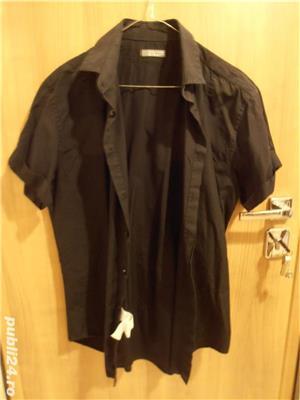 Vand camasa barbateasca, noua, neagra, maneca scurta, nr 44-46, Zara, 100% bumbac, 96 lei  - imagine 1