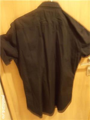 Vand camasa barbateasca, noua, neagra, maneca scurta, nr 44-46, Zara, 100% bumbac, 96 lei  - imagine 2