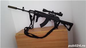 Pusca airsoft AKM 47C, MP44, Type 89 - imagine 3