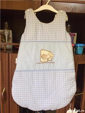 sac de dormit bebe si ursulet plus nou - imagine 1