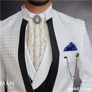 Costume albe pentru mire/ginere, moda 2020 - imagine 6