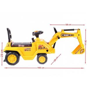 Olita -Jucarie interactiva Malplay Ride-On 2in1 Excavator si Olita cu volan si manete - imagine 5