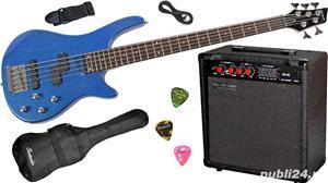 Set chitara electrica bass Santander BG1209-5 P/J & Hy-X-AMP BA-30  - imagine 4