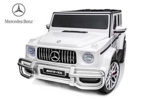 Kinderauto Mercedes G63 XXL 4x4 PREMIUM #Alb - imagine 1