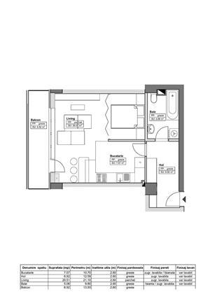 DE VÂNZARE: Apartament 46.96 mp - 51.700€, complex HIMSON IASI - imagine 2