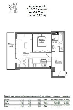 DE VÂNZARE: Apartament 46.96 mp - 51.700€, complex HIMSON IASI - imagine 4