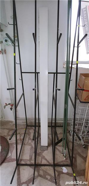 Rafturi de depozit solide și stender  de expunere role material,mușama,țevi,etc  - imagine 5