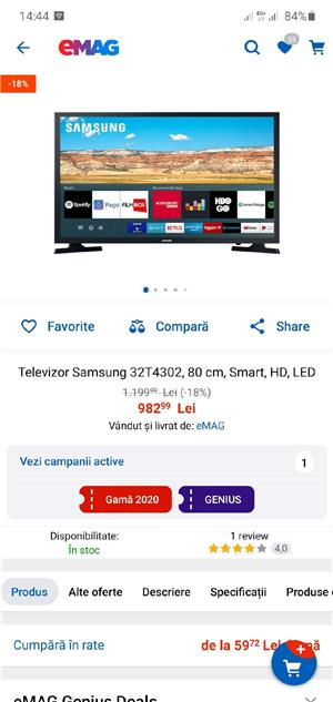 samsung tv smart full hd 80cm, nou - imagine 5