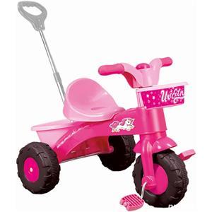 Prima mea tricicleta roz cu maner - Unicorn 64 x 52 x 50 cm - imagine 1