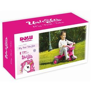 Prima mea tricicleta roz cu maner - Unicorn 64 x 52 x 50 cm - imagine 3