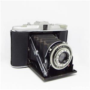 Agfa Isolette in etui piele maro - imagine 2