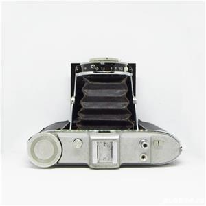 Agfa Isolette in etui piele maro - imagine 3