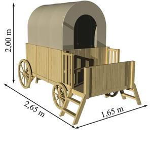 Trasura-Casuta din lemn JESSY 2857 Dimensiuni pachet :120 x 80 x 40 cm 4 368 lei - imagine 3