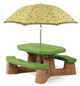 Masa picnic,cu umbrela Varianta Recolor 87700 Greutate maxima 136.1 kg 700 lei - imagine 1