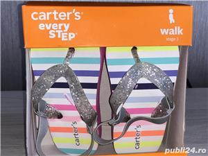 Vand sandale si pantofi vara - CARTERS,US 5, EU 20, lung 12,1 cm (pret 50 ron) - imagine 4