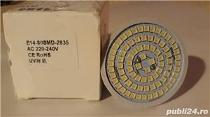 bec 8W ultraviolete UVC efect virucid, 80 LED SMD, fasung E14 - imagine 2