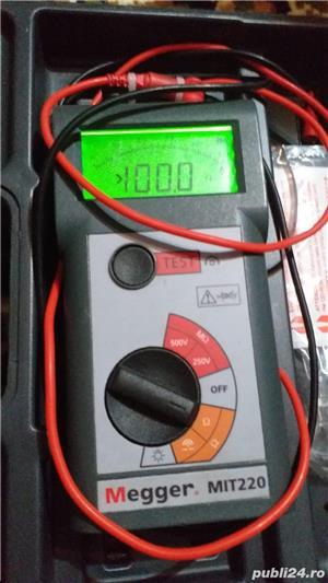 Megger MIT220 250V/500V Tester de izolatie si continuitate cu alarma - imagine 3