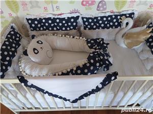 Babynest reversibil,Aparatori + Paturica !!  - imagine 3