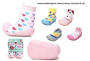 Sosete antiderapante  Hearts U-Grow, marimea 19 -23 - imagine 1