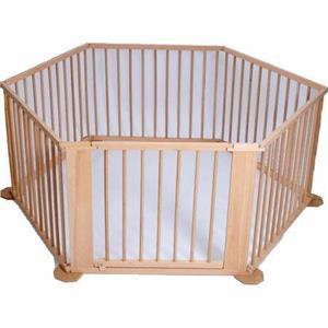 Tarc de joaca (7+1) din lemn pentru copii si bebelusi - imagine 1
