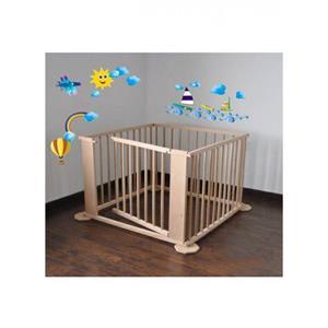 Tarc de joaca (7+1) din lemn pentru copii si bebelusi - imagine 2
