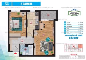 Apartament 2 camere,Trapezuluui - imagine 4