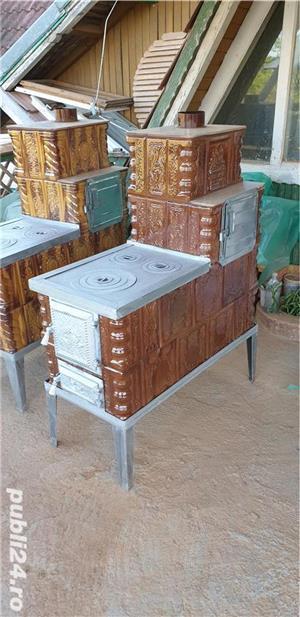 Sobe de teracota premontate pe roti de gatit - imagine 3