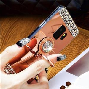 Husa tip oglinda cu pietricele + inel pt. Samsung Galaxy S7 Edge, S8, S8+, S8 Plus, S9, S9+, S9 Plus - imagine 5