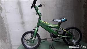 Ofer Minibike Prince KERO pentru copii cu roți ajutătoare  - imagine 2