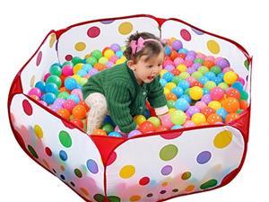 Vand Loc de joaca - Piscina pliabila cu 50 bile colorate pentru copii, NOU, Pret 85 Lei - imagine 3