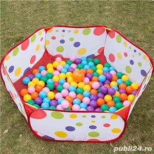 Vand Loc de joaca - Piscina pliabila cu 50 bile colorate pentru copii, NOU, Pret 85 Lei - imagine 4