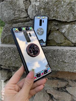 Husa oglinda cu inel si pietricele pt. Samsung Galaxy S9, S9+, S9 Plus, S10, S10+, S10 Plus - imagine 4