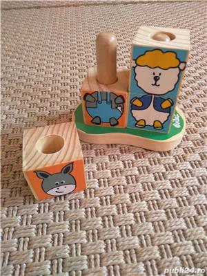Vand set 4 cuburi tip puzzle marca Vilac, cu animalute - imagine 5