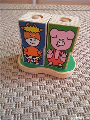 Vand set 4 cuburi tip puzzle marca Vilac, cu animalute - imagine 3