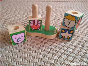 Vand set 4 cuburi tip puzzle marca Vilac, cu animalute - imagine 2