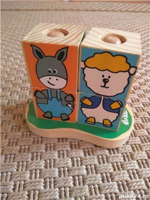 Vand set 4 cuburi tip puzzle marca Vilac, cu animalute - imagine 4
