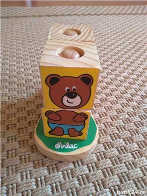 Vand set 4 cuburi tip puzzle marca Vilac, cu animalute - imagine 1
