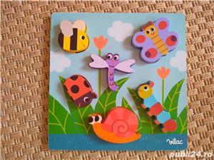 Vand joc de potrivire-puzzle V.ilac cu insecte - imagine 1