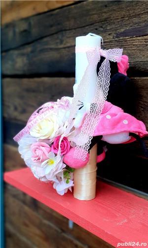 Lumânare Botez Fetiță Minnie Mouse - imagine 3