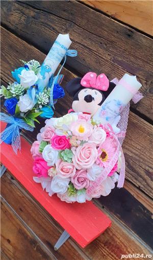 Lumânare Botez Fetiță Minnie Mouse - imagine 1
