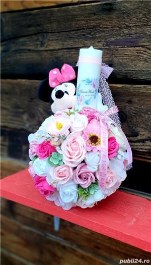Lumânare Botez Fetiță Minnie Mouse - imagine 2