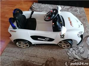 Masinuta electrica pentru copii, cu telecomanda, Mappy, Aero White - imagine 1