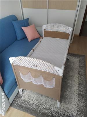 Patut pliabil Chipolino Merida + Saltea pentru copii Cocos Confort II - imagine 2